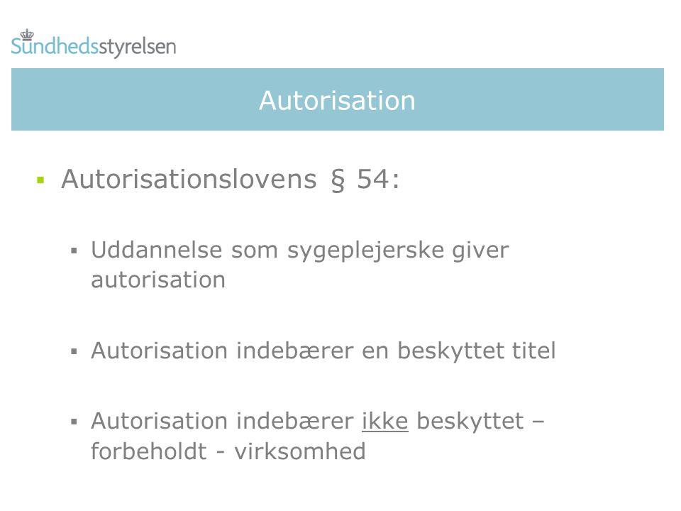 Autorisationslovens § 54: