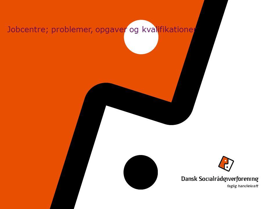 Jobcentre; problemer, opgaver og kvalifikationer