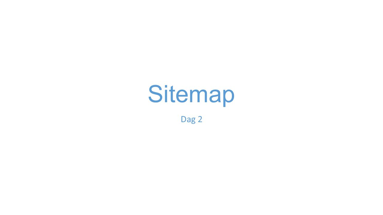 Sitemap Dag 2