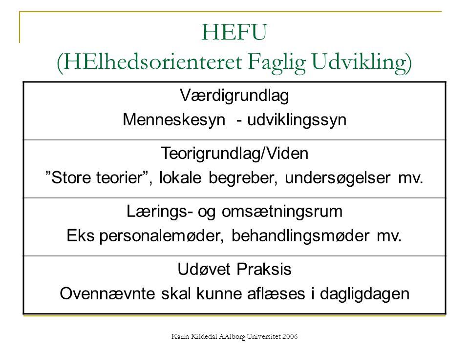 HEFU (HElhedsorienteret Faglig Udvikling)