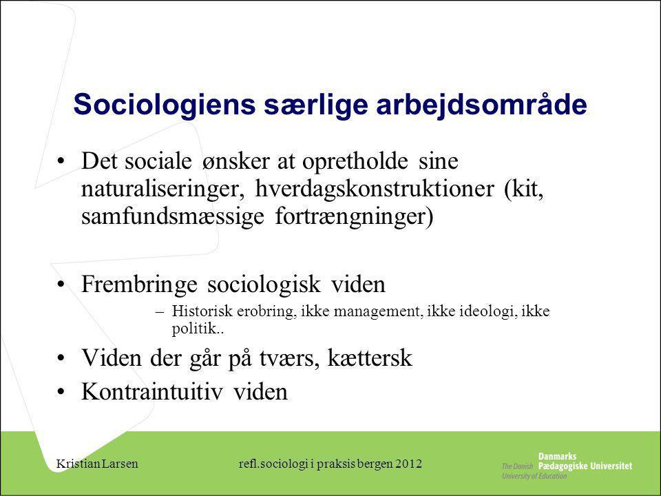 Sociologiens særlige arbejdsområde