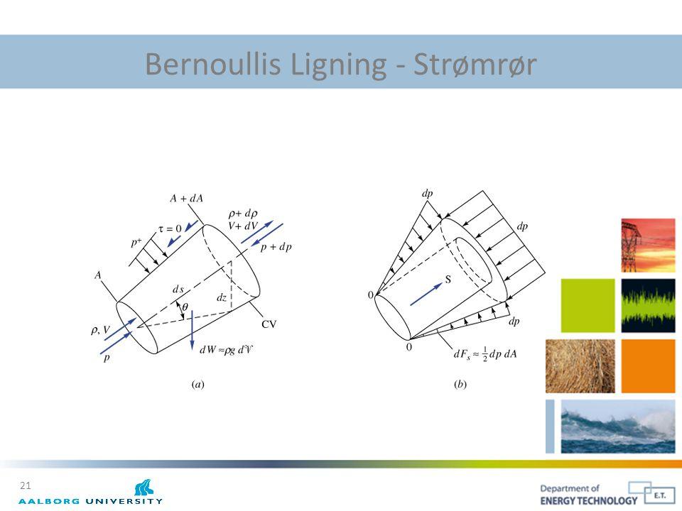 Bernoullis Ligning - Strømrør