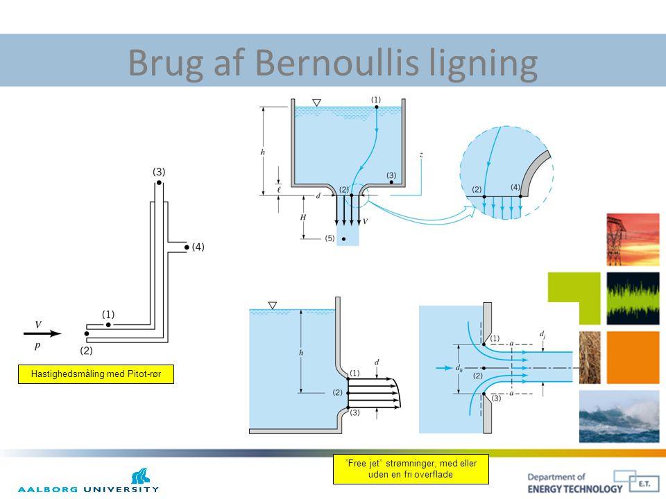 Brug af Bernoullis ligning