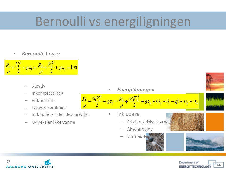 Bernoulli vs energiligningen