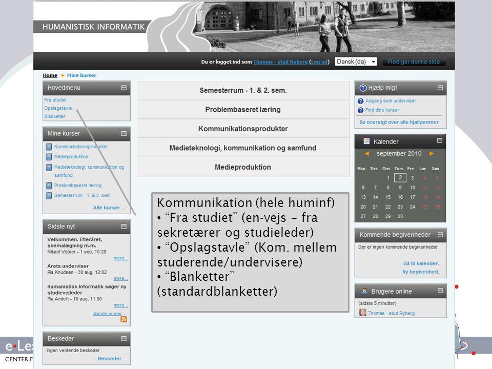 Kommunikation (hele huminf)