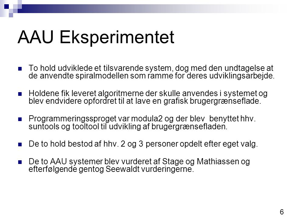 AAU Eksperimentet