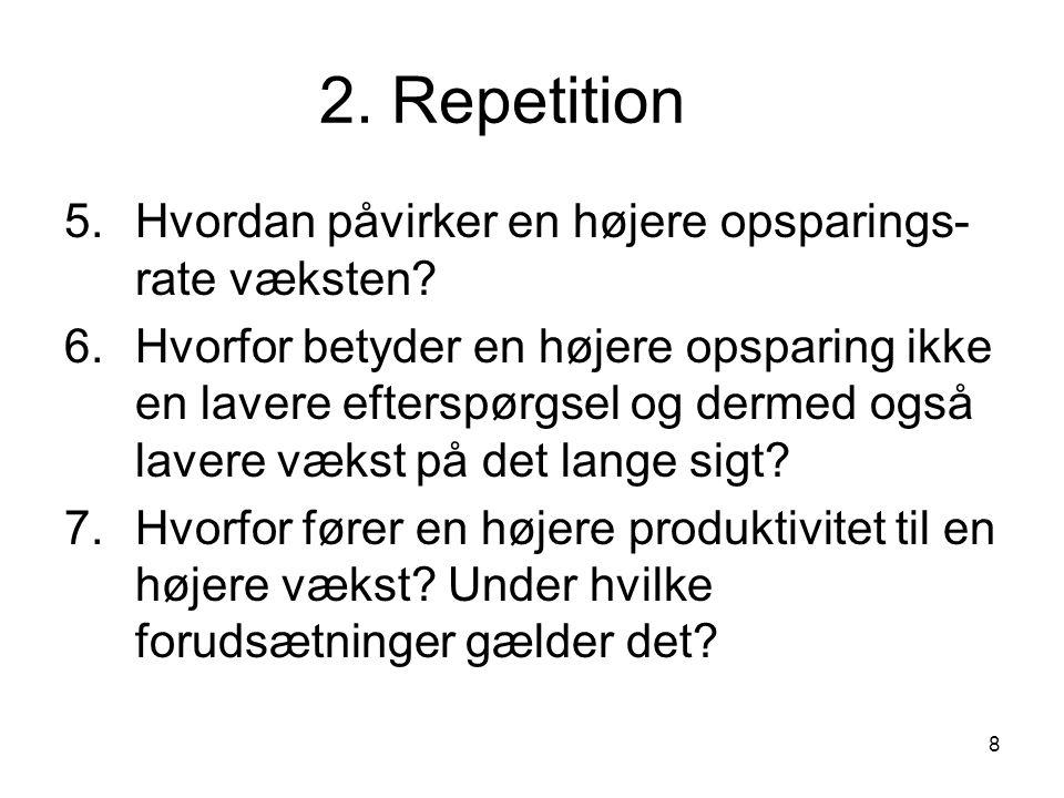 2. Repetition 5. Hvordan påvirker en højere opsparings-rate væksten