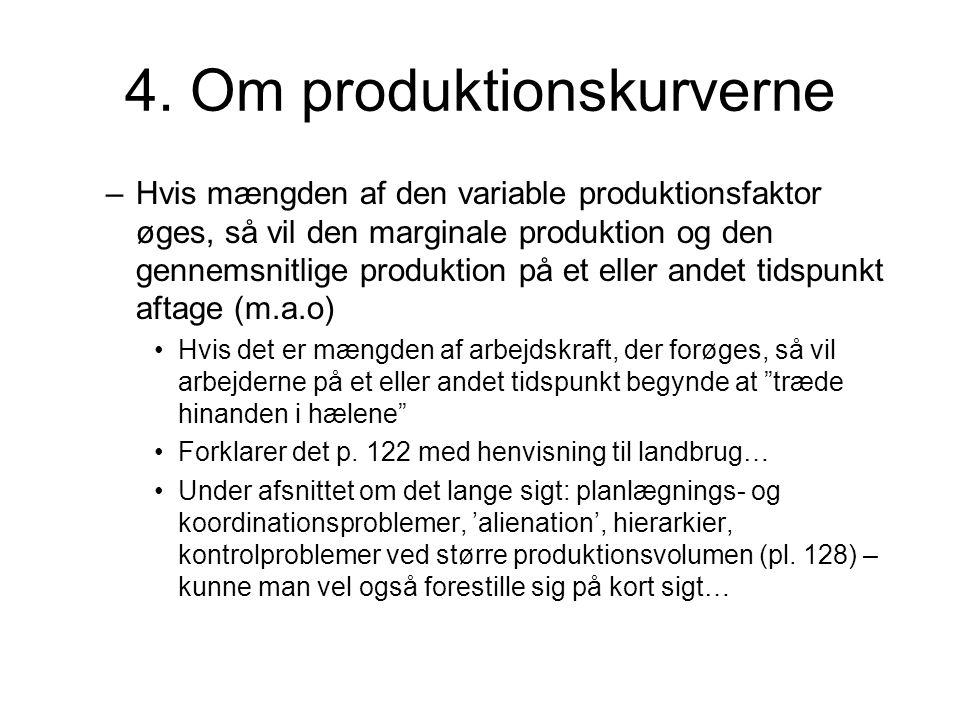 4. Om produktionskurverne