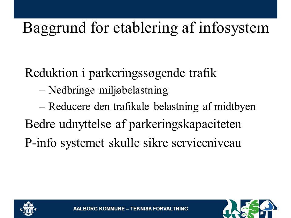 Baggrund for etablering af infosystem