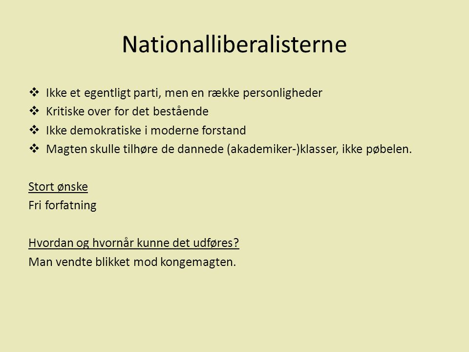 Nationalliberalisterne