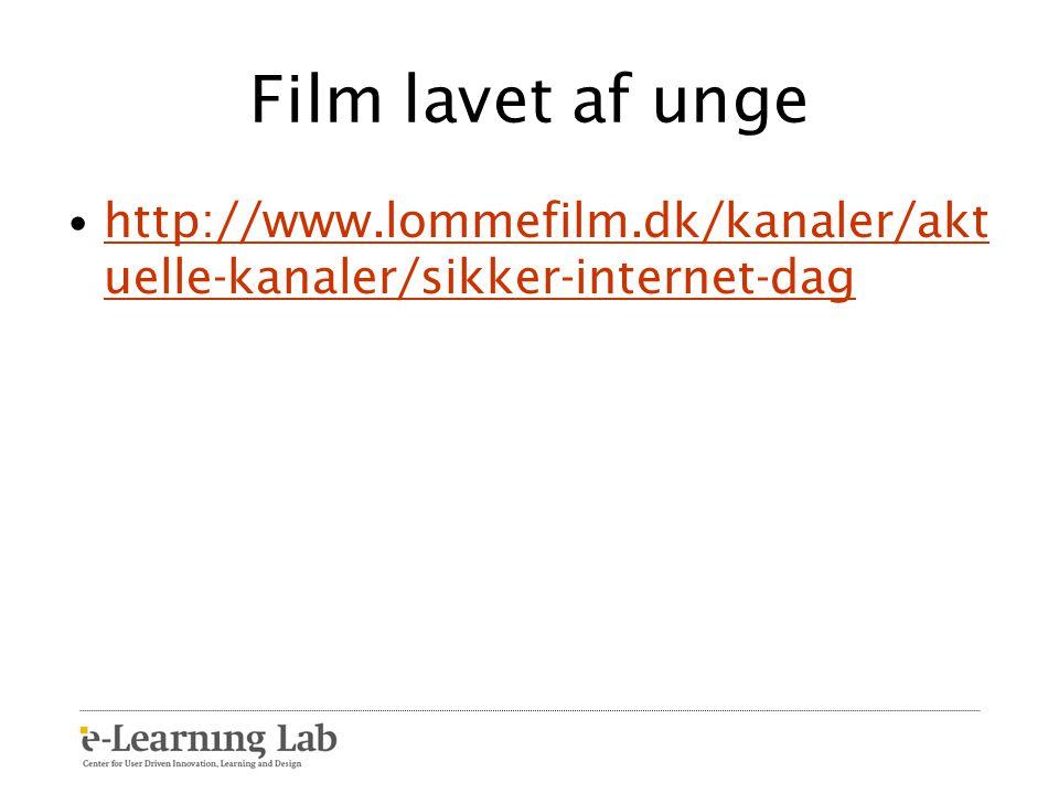 Film lavet af unge http://www.lommefilm.dk/kanaler/aktuelle-kanaler/sikker-internet-dag