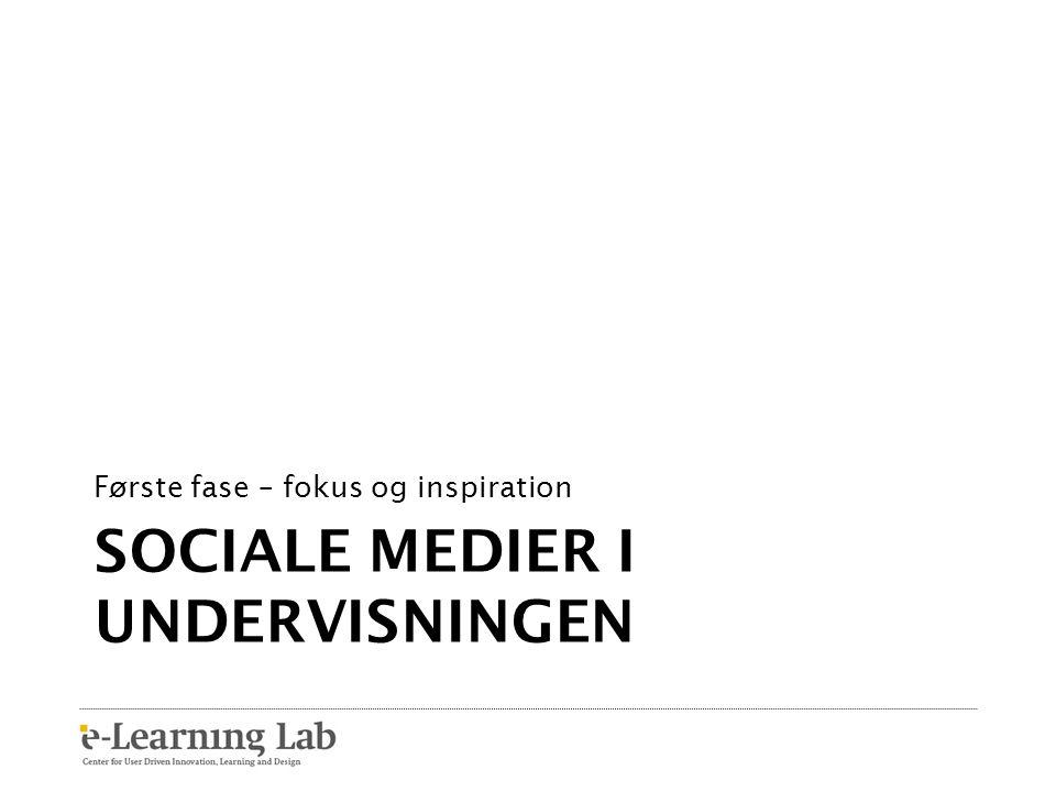 Sociale medier i undervisningen