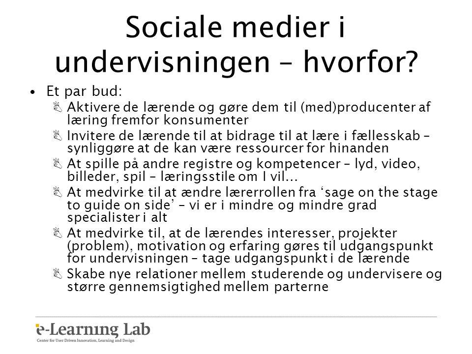 Sociale medier i undervisningen – hvorfor