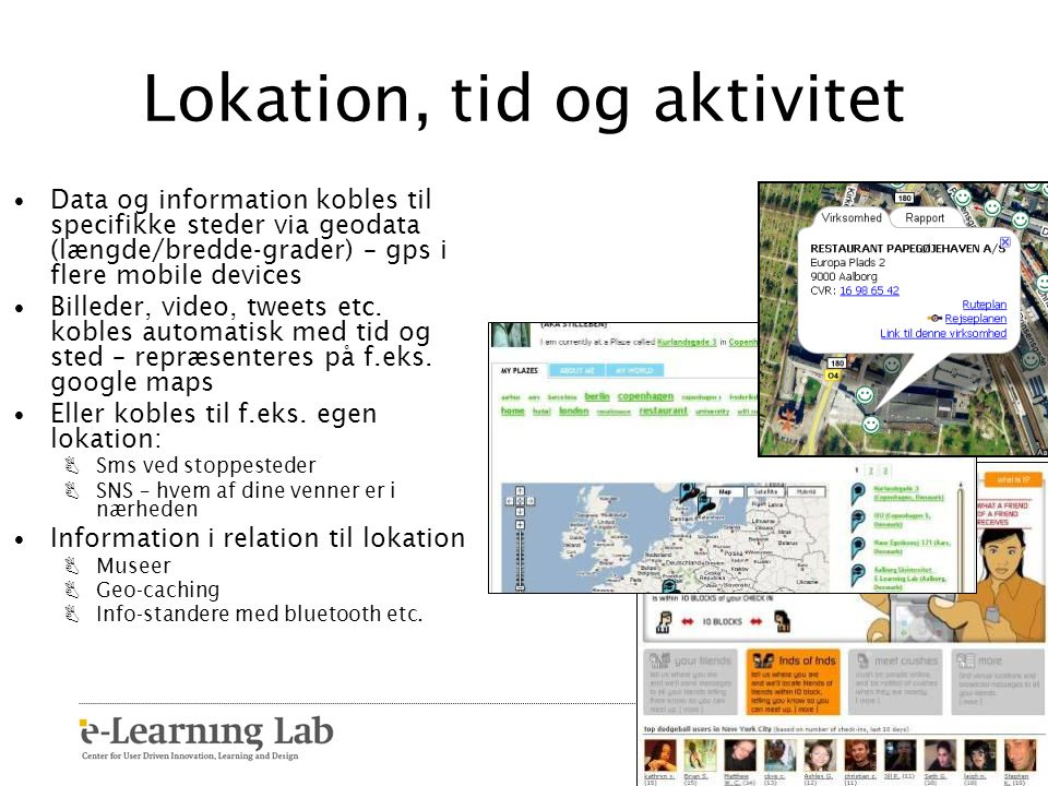 Lokation, tid og aktivitet