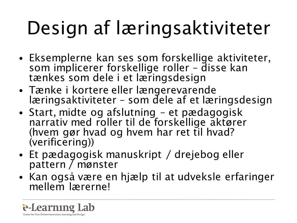 Design af læringsaktiviteter