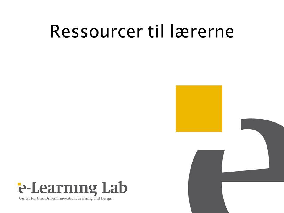 Ressourcer til lærerne