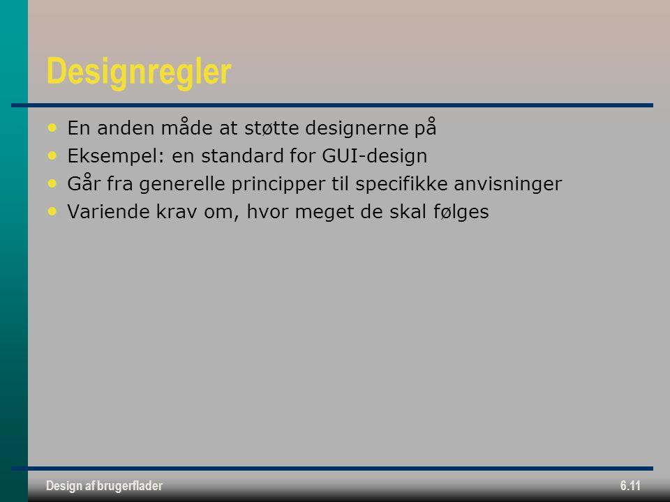 Designregler En anden måde at støtte designerne på