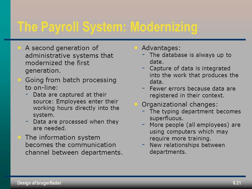 The Payroll System: Modernizing