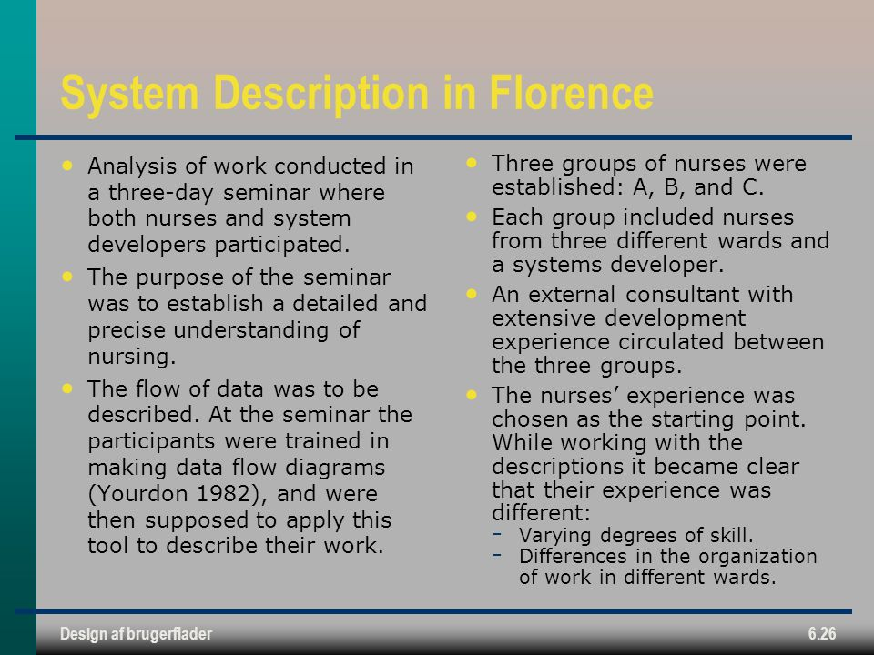 System Description in Florence