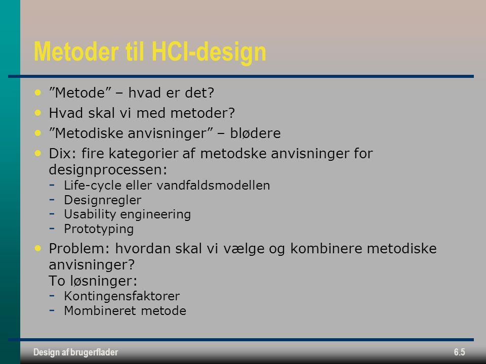 Metoder til HCI-design
