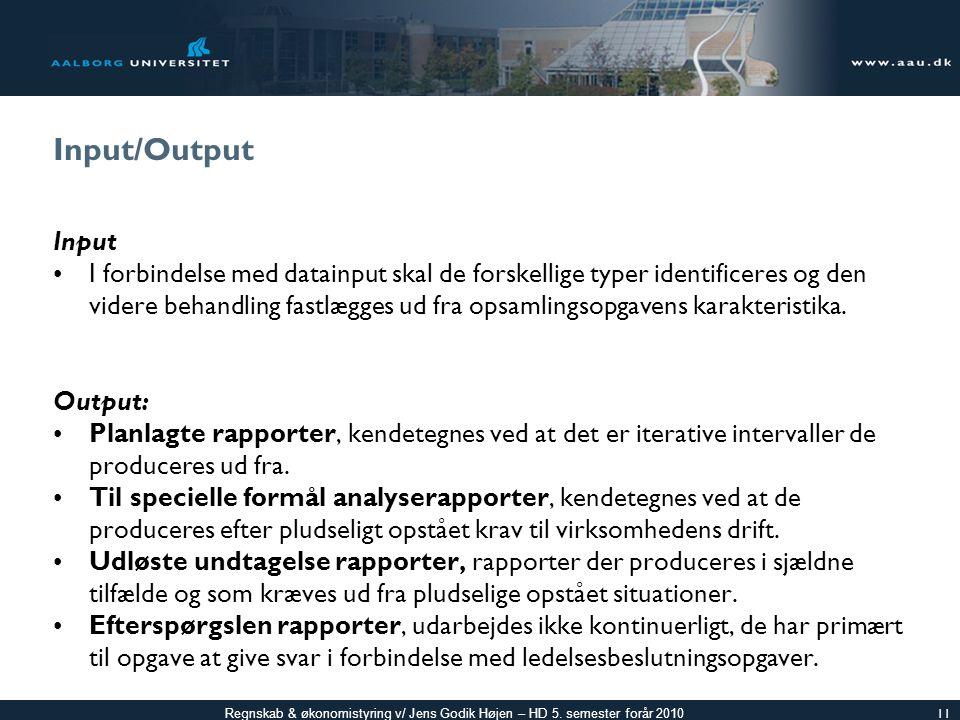 Input/Output Input.