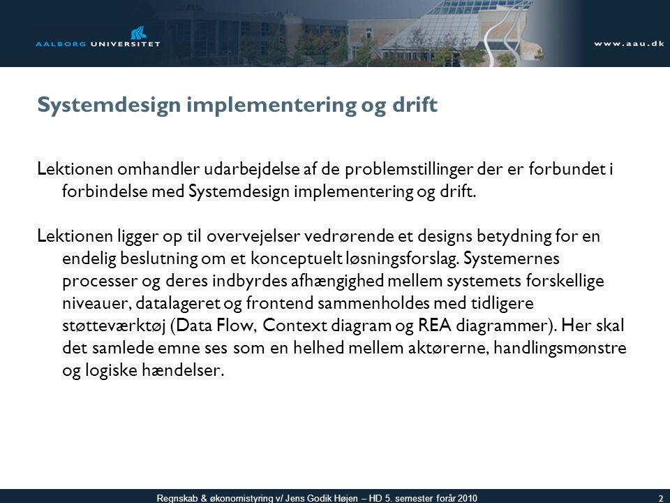 Systemdesign implementering og drift