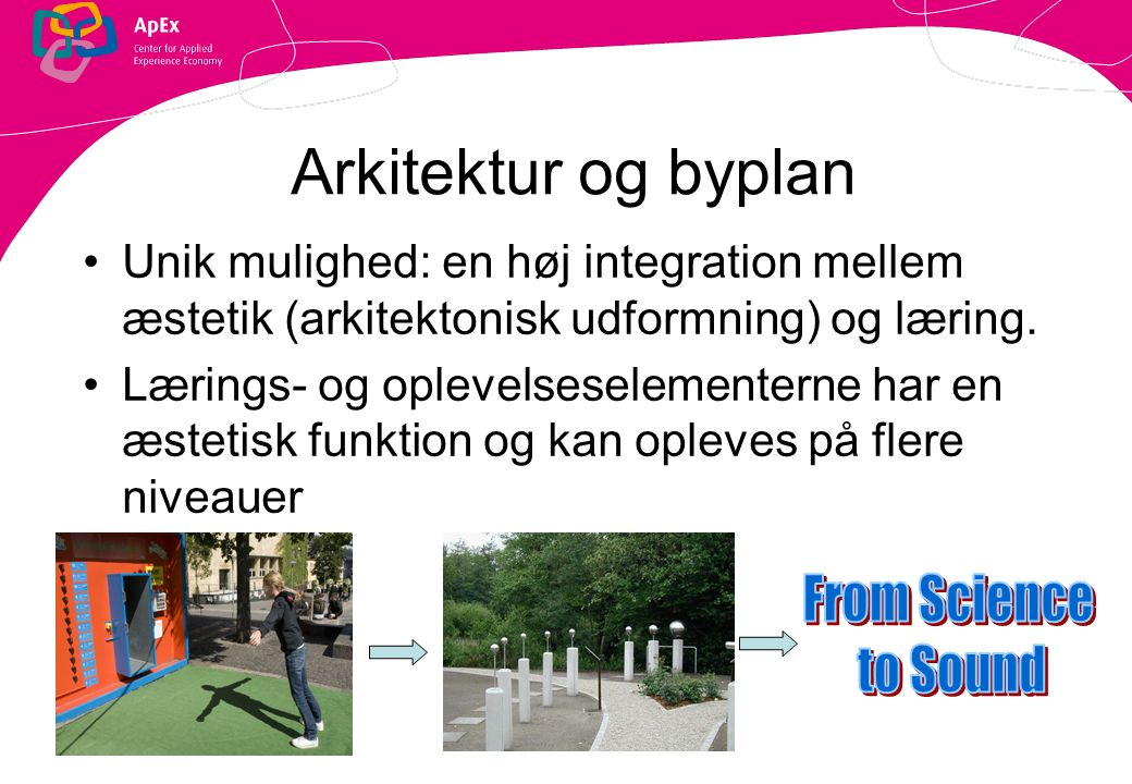 Arkitektur og byplan From Science to Sound