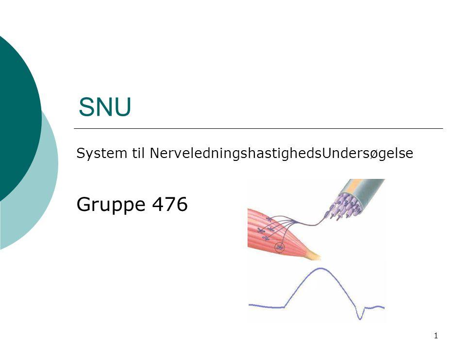 System til NerveledningshastighedsUndersøgelse Gruppe 476