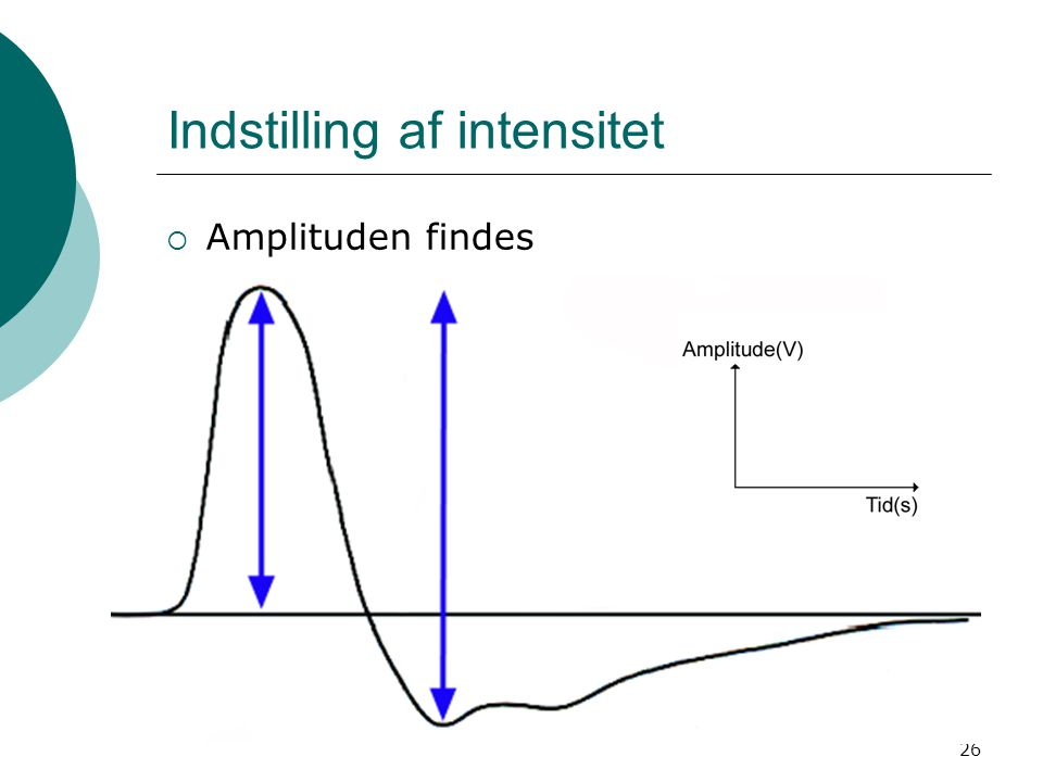 Indstilling af intensitet