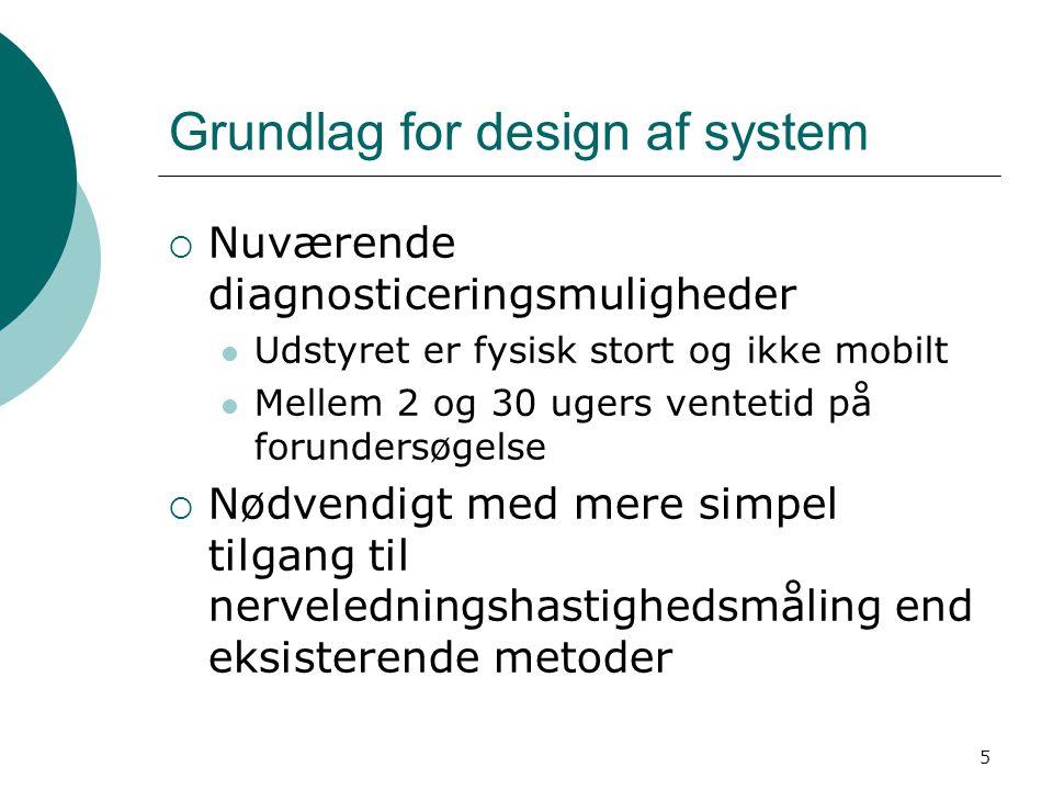 Grundlag for design af system