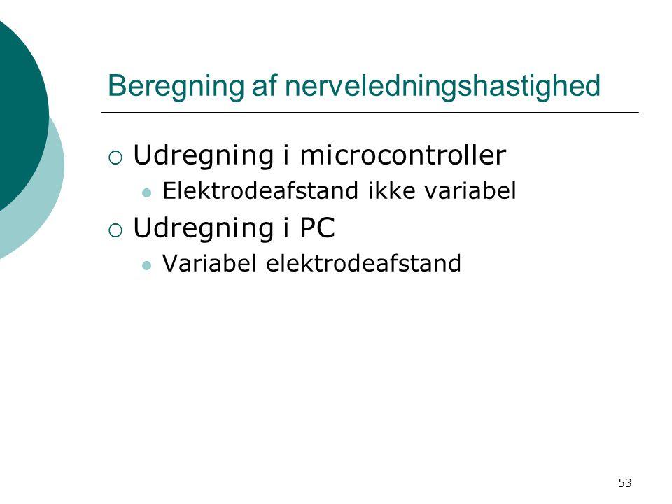 Beregning af nerveledningshastighed