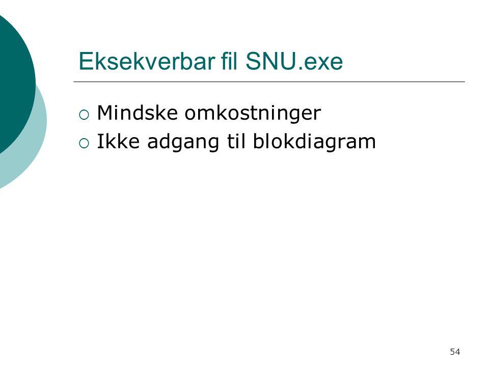 Eksekverbar fil SNU.exe