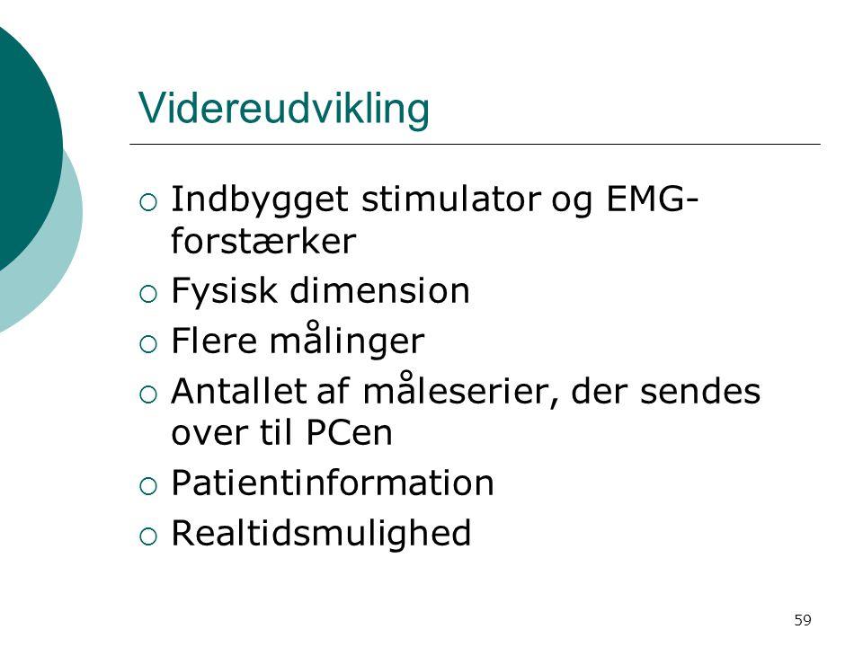 Videreudvikling Indbygget stimulator og EMG-forstærker