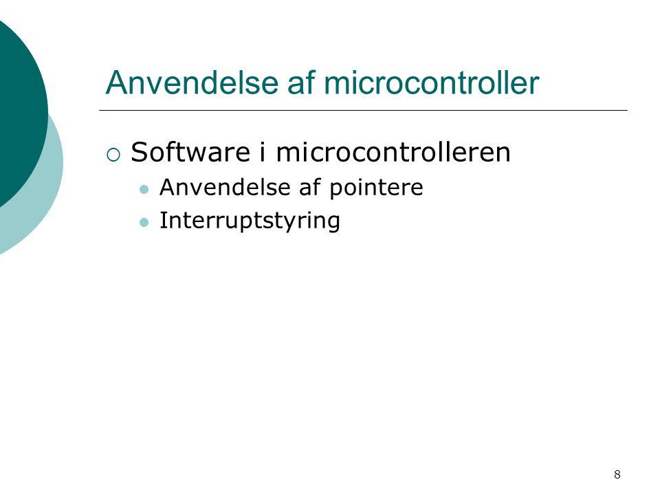 Anvendelse af microcontroller