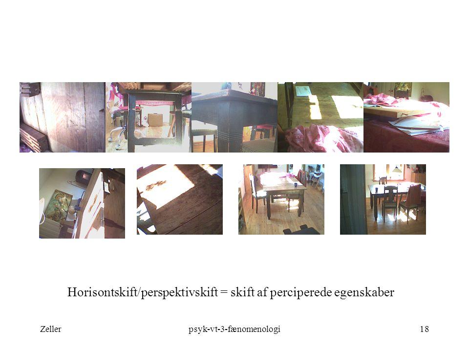 Horisontskift/perspektivskift = skift af perciperede egenskaber