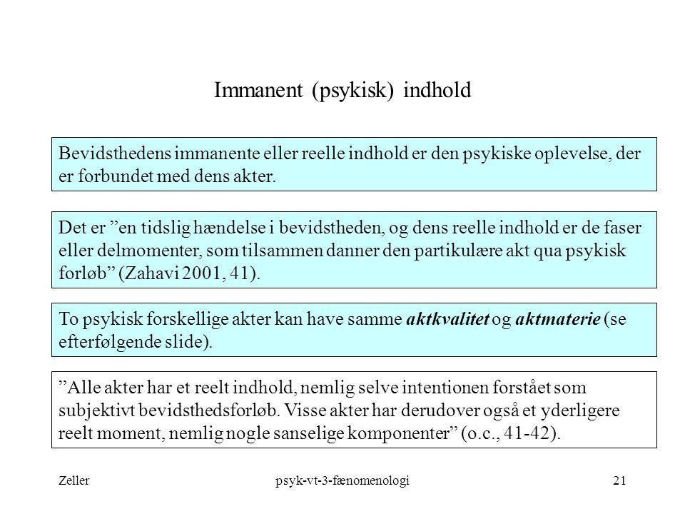 Immanent (psykisk) indhold