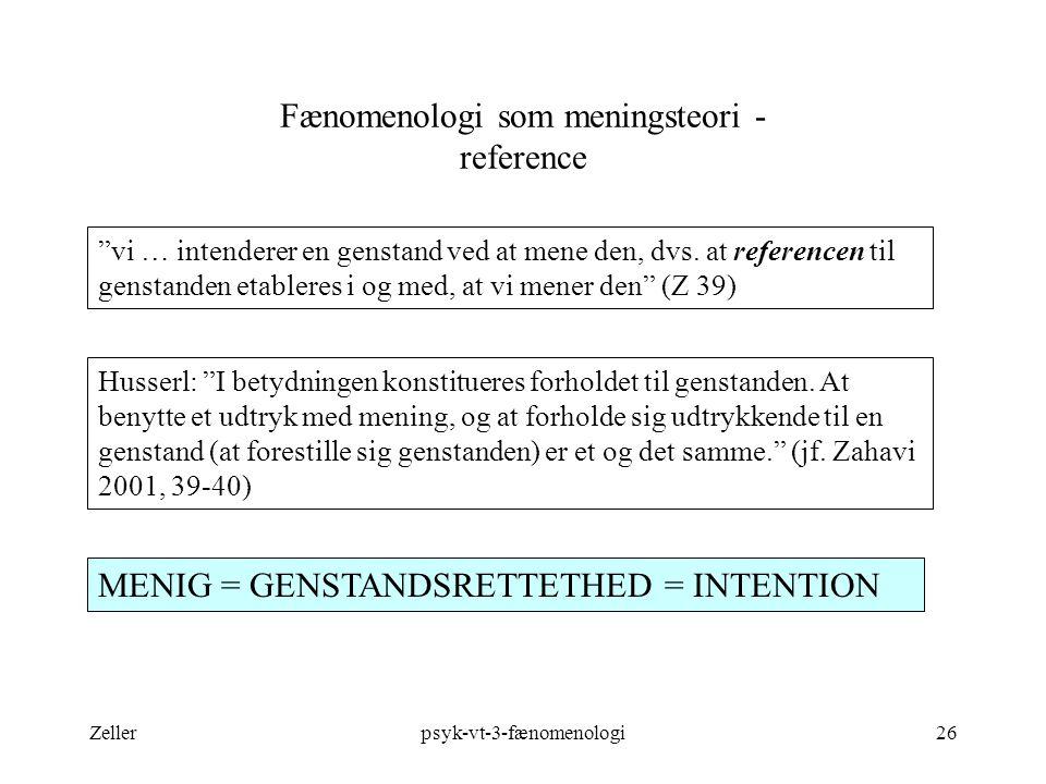 Fænomenologi som meningsteori - reference