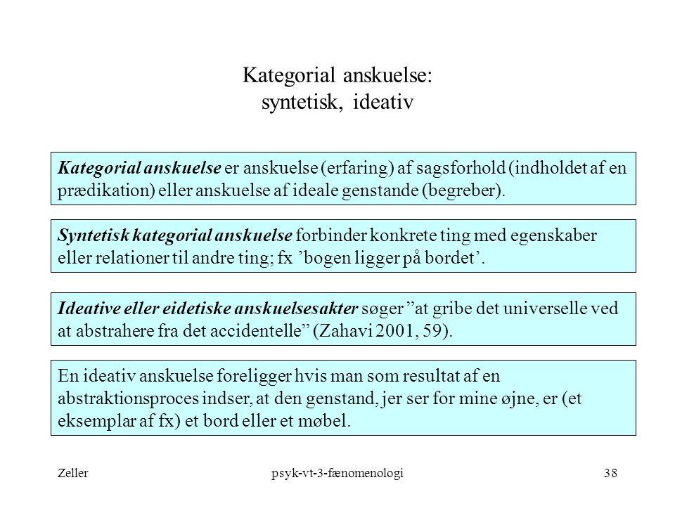Kategorial anskuelse: syntetisk, ideativ