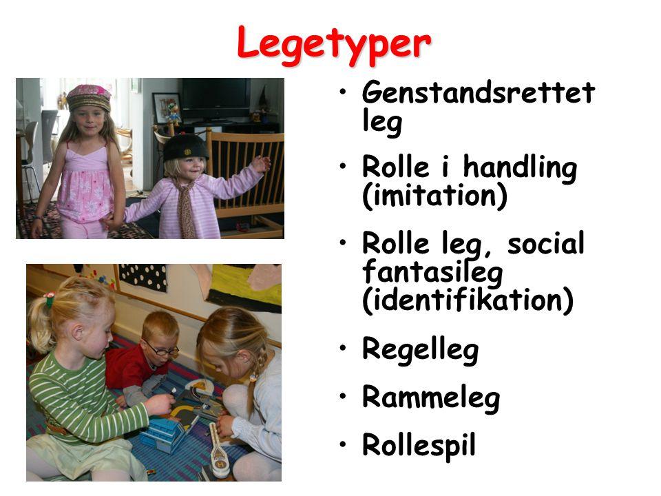 Legetyper Genstandsrettet leg Rolle i handling (imitation)