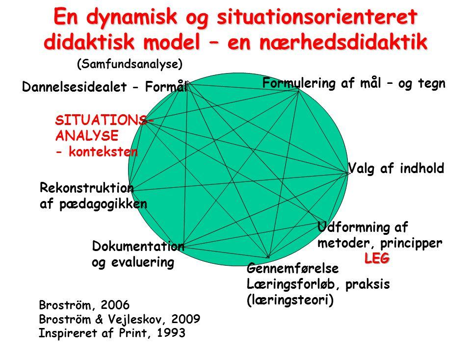 En dynamisk og situationsorienteret didaktisk model – en nærhedsdidaktik