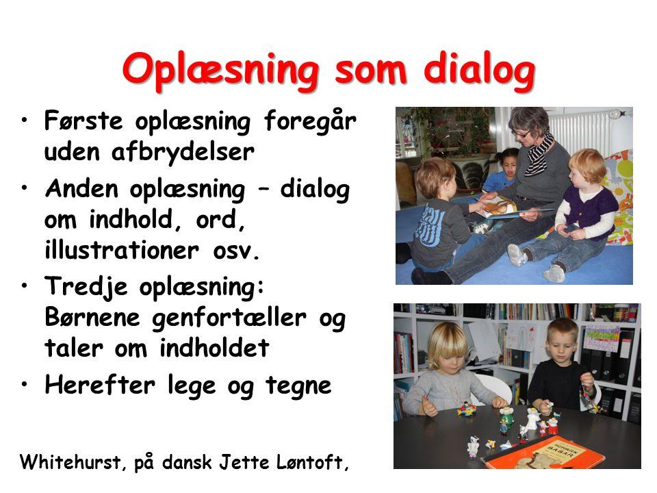 Oplæsning som dialog Første oplæsning foregår uden afbrydelser