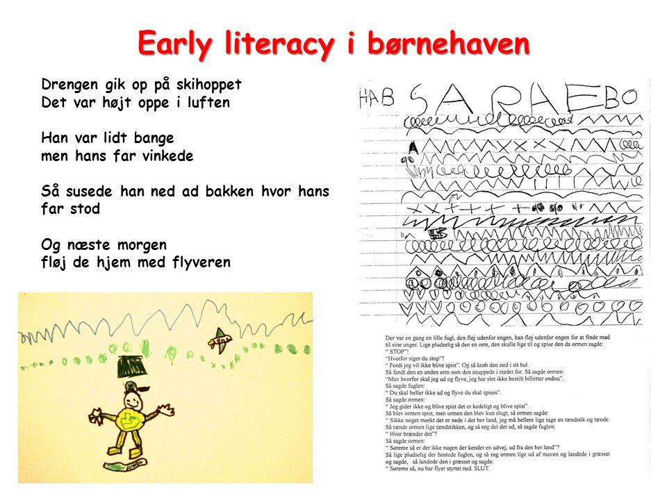 Early literacy i børnehaven