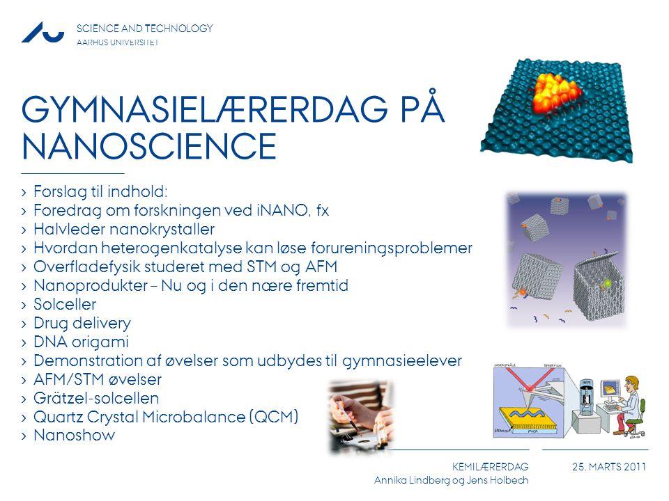 Gymnasielærerdag på nanoscience