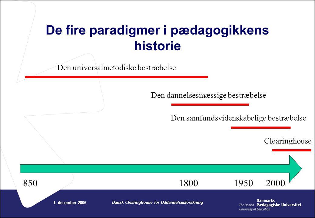 De fire paradigmer i pædagogikkens historie