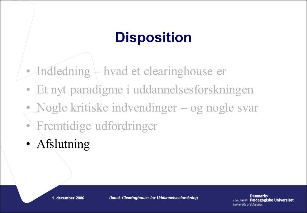 Dansk Clearinghouse for Uddannelsesforskning