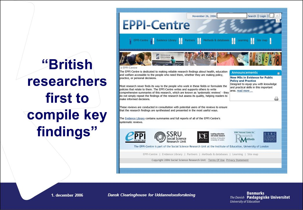 British researchers first to compile key findings