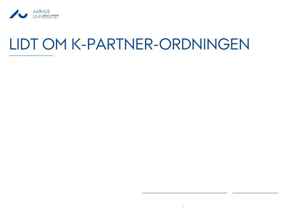 Lidt om K-partner-ordningen
