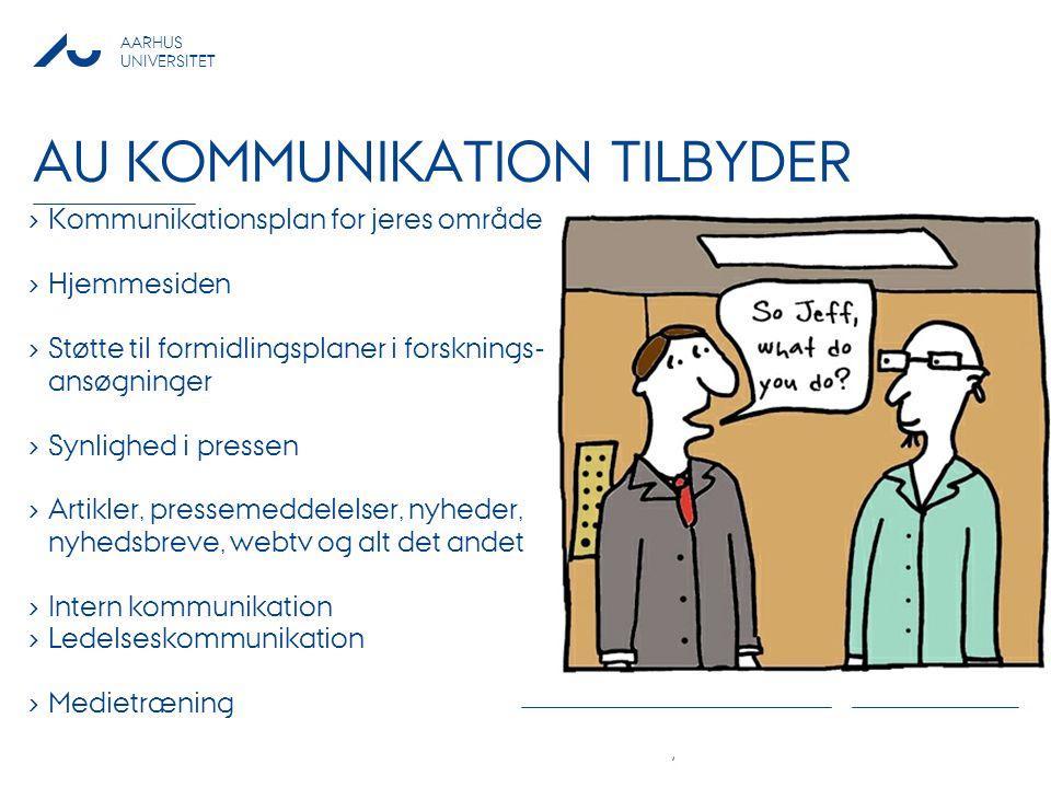 AU Kommunikation tilbyder