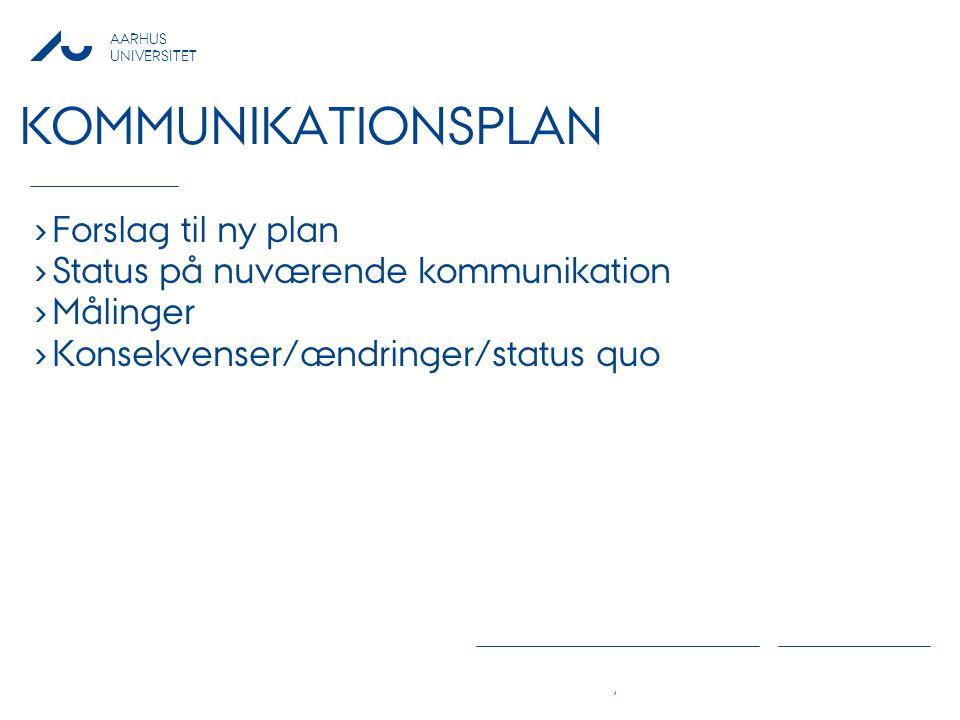 Kommunikationsplan Forslag til ny plan