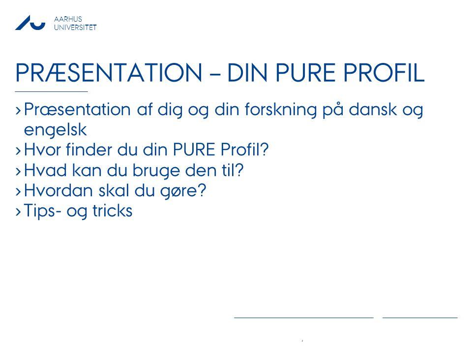 Præsentation – Din PURE Profil